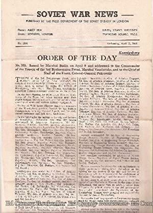 Soviet War News No. 1130 Wednesday, April 11, 1945: Author Not Stated