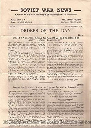 Soviet War News No. 946 Monday, August 28, 1944: Author Not Stated