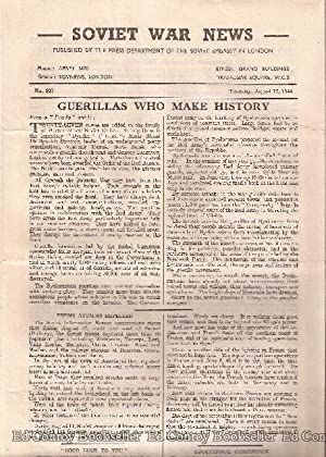 Soviet War News No. 937 Thursday, August 17, 1944: Author Not Stated
