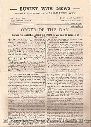 Soviet War News No. 994 Tuesday , October 24, 1944: Author Not Stated
