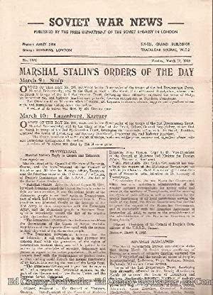 Soviet War News No. 1107 Monday, March 12, 1945: Author Not Stated