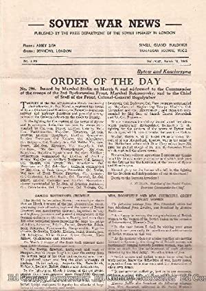 Soviet War News No. 1106 Saturday, March 10, 1945: Author Not Stated
