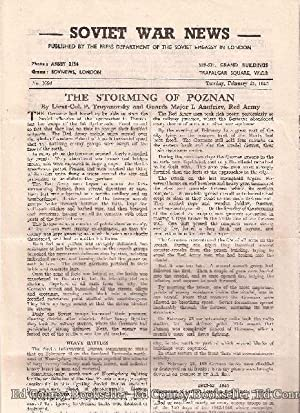 Soviet War News No. 1096 Tuesday, February 27, 1945: Author Not Stated