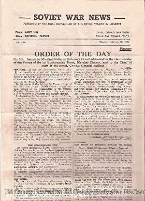 Soviet War News No. 1095 Monday, February 26, 1945: Author Not Stated
