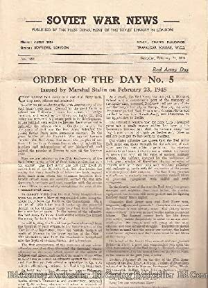 Soviet War News No. 1094 Saturday, February 24, 1945: Author Not Stated