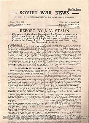 Soviet War News No. 1006 Wednesday, November 8, 1944 Double Issue: Author Not Stated