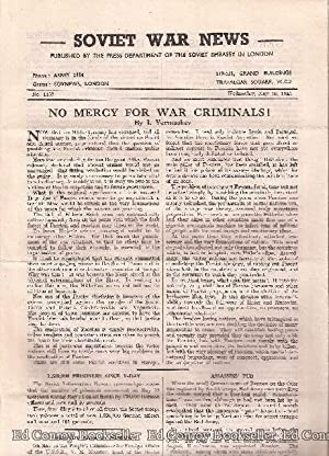 Soviet War News No. 1157 Wednesday, May 16, 1945: Author Not Stated