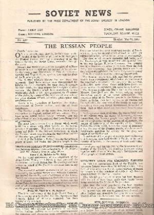 Soviet War News No. 1166 Monday, May 28, 1945: Author Not Stated