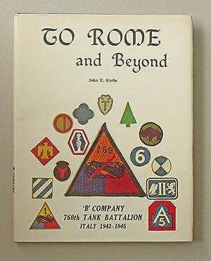 To Rome and Beyond Battle Adventures Of: Krebs, John E.