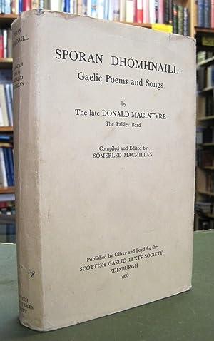Sporan Dhomhnaill: Gaelic Poems and Songs by: Mac an t-Saoir,