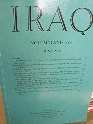 Iraq (Journal of the British School of Archaeology in Iraq) - Volume LXXI, 2009
