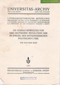Die soziale Bewegung vor der deutschen Revolution 1848 im Spiegel der zeitgenössischen ...