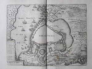 """Stralsundia., Kupferstich aus Merians """"Theatrum Europaeum"""" Band 2.: Merian, M:"""