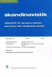skandinavistik. Zeitschrift für Sprache, Literatur und Kultur: Marold, Edith (Hrsg.)