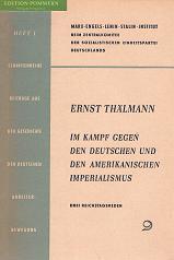 Im Kampf gegen den deutschen und den amerikanischen Imperialismus : 3 Reichstagsreden., ...