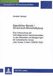 Eigentlicher Bericht, so wol auch Abcontrafeytung : eine Untersuchung der nicht-allegorischen ...