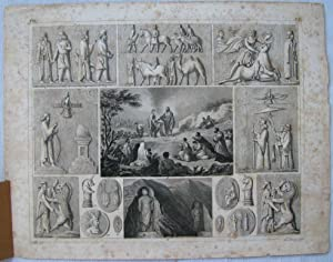 Stampa del 1846: Antiche religioni del Medio