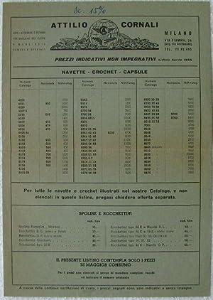 Catalogo di aghi, accessori e ricambi per macchine da cucire Attilio Cornali