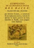 Compendio de las principales reglas del baile. (Facsímil): Antonio Cairon