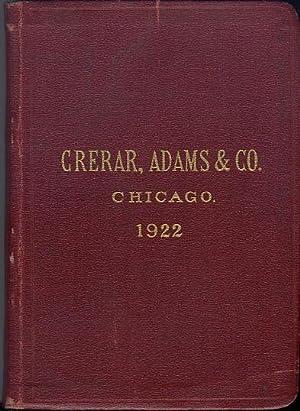 Crerar, Adams & Co. Railway Supplies 1922 Catalog: Crerar, Adams & Co.