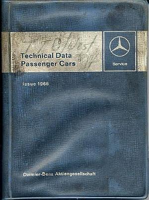 Technical Data - Passenger Cars, Issue 1966 Mercedes: Daimler-Benz [Mercedes]
