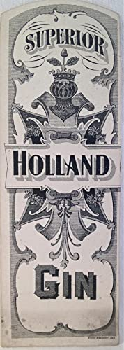 Liquor Label] Superior Holland Gin