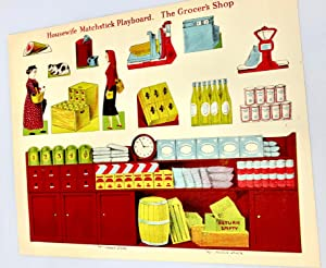 [GAMES] Housewife Matchstick Playboard (3) Uncut Playboards Sets - Grocer's Shop, Farm, and Zoo