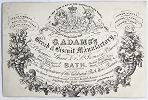 [TRADE CARD] G. Adams's Bread & Biscuit Manufactory 5 St. James's, Street & 2 St. James's Place
