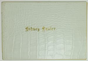 SIDNEY LANIER. [Cover title.] DELIVERED BEFORE THE KANSAS ACADEMY OF LANGUAGE AND LITERATURE AT I...