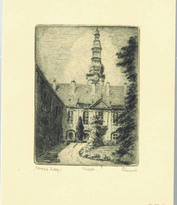 Tetschen, heute Decin Tschechien, Böhmen, Original Radierung: Original ( Name