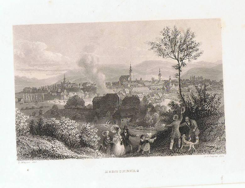 Hirschberg. Schlesien, Polen. Stahlstich nach Ludwig Richter.: Mayer / Payne