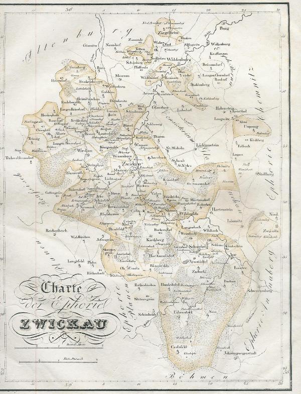 Zwickau Karte.Charte Der Ephorie Zwickau Aus Atlas Des