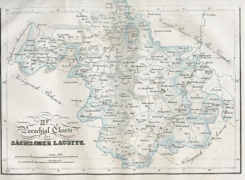 II. Barockial Charte der Sächs. Oberlausitz aus: Lüdicke, Friedrich Adolph