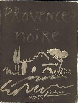 Provence Noire. Couverture originale Picasso. ( Original: Verdet, Andre /