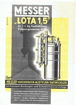 Der Messer - Hochdruck - Azetylen -: Messer & Co.