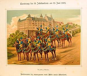 """Busunare dez marcrave von Misn unde Osterl amt. """" Das gefloz ze Aldenburc """" im farbigen ..."""