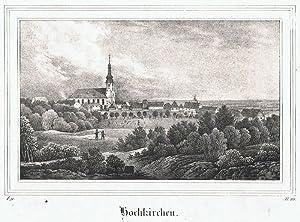 Hochkirchen bei Bautzen. Lithographie aus Sachsens Kirchengalerie: Kirchengalerie