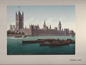 London - Houses of Parliament. handschriftl datiert 01. Oktober 1907