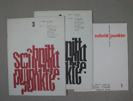 SCHNITTPUNKTE. Zeitschrift für Literatur und bildende Kunst