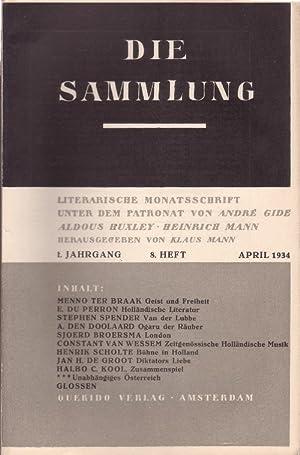 DIE SAMMLUNG. Literarische Monatsschrift unter dem Patronat