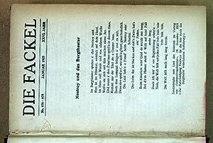 DIE FACKEL. Jg. 26-27, Nr. 676/678-706/711. Hrsg. von KARL KRAUS.
