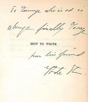 How to write.: Stein, Gertrude, Schriftstellerin