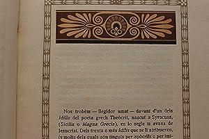 Les Syracusanes o les festes d'Adonis: idili de Theòcrit.: Theòcrit. Teócrito
