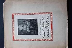 XXIV Sonets de Shakespeare: William Shakespeare, Trad.