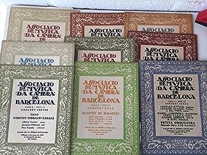 Lot de 9 Programes Associació de Música: Pau Casals. Palau