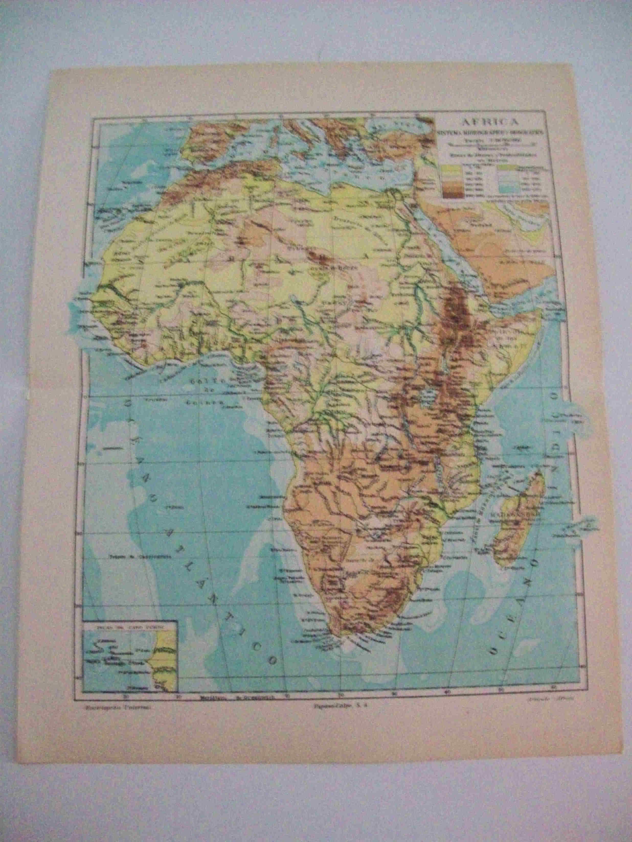 Mapa Hidrografico De España.Lamina Espasa 15360 Mapa Hidrografico De