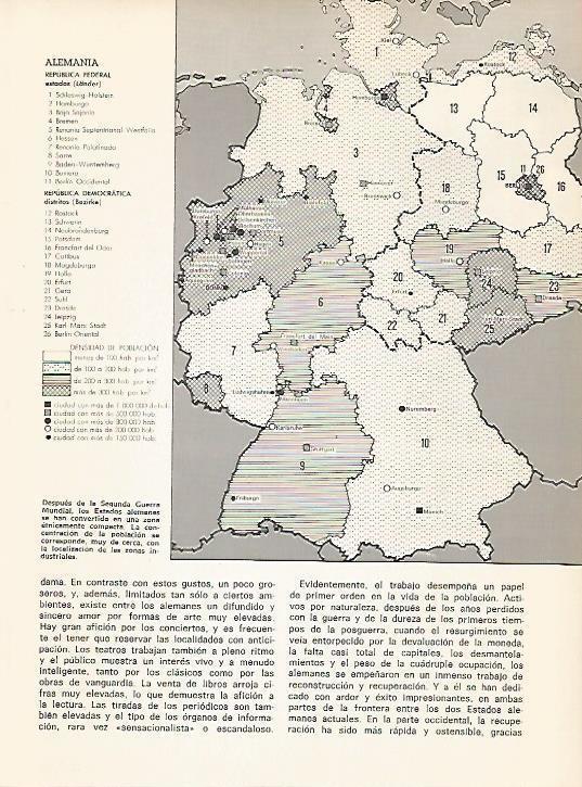 Republica Democratica Alemana Mapa.Lamina 11025 Mapa De La Republica Federal