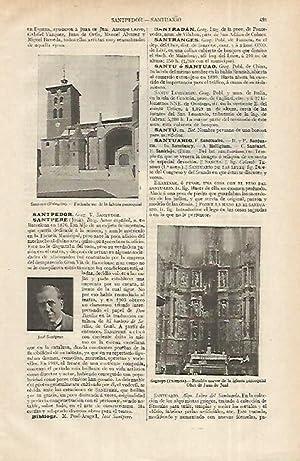 LAMINA ESPASA 12329: Iglesia de Santoyo Palencia: Varios