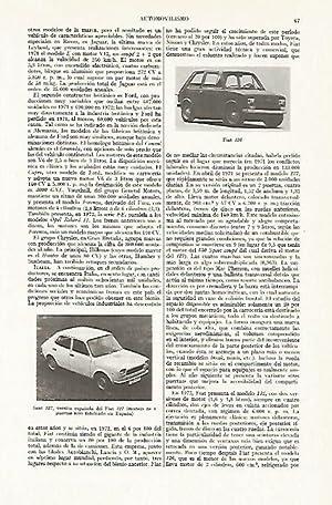 LAMINA ESPASA 13331: Fiat 126 y Seat: Varios