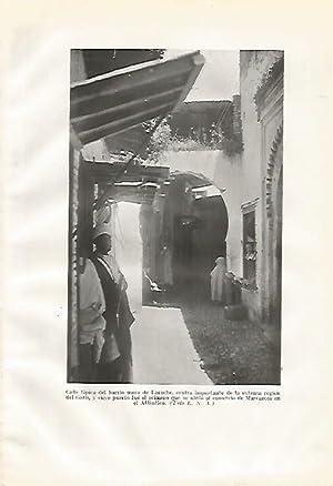 LAMINA GEOGRAFIA 0158: Calle del zoco de: Ricardo Beltran y
